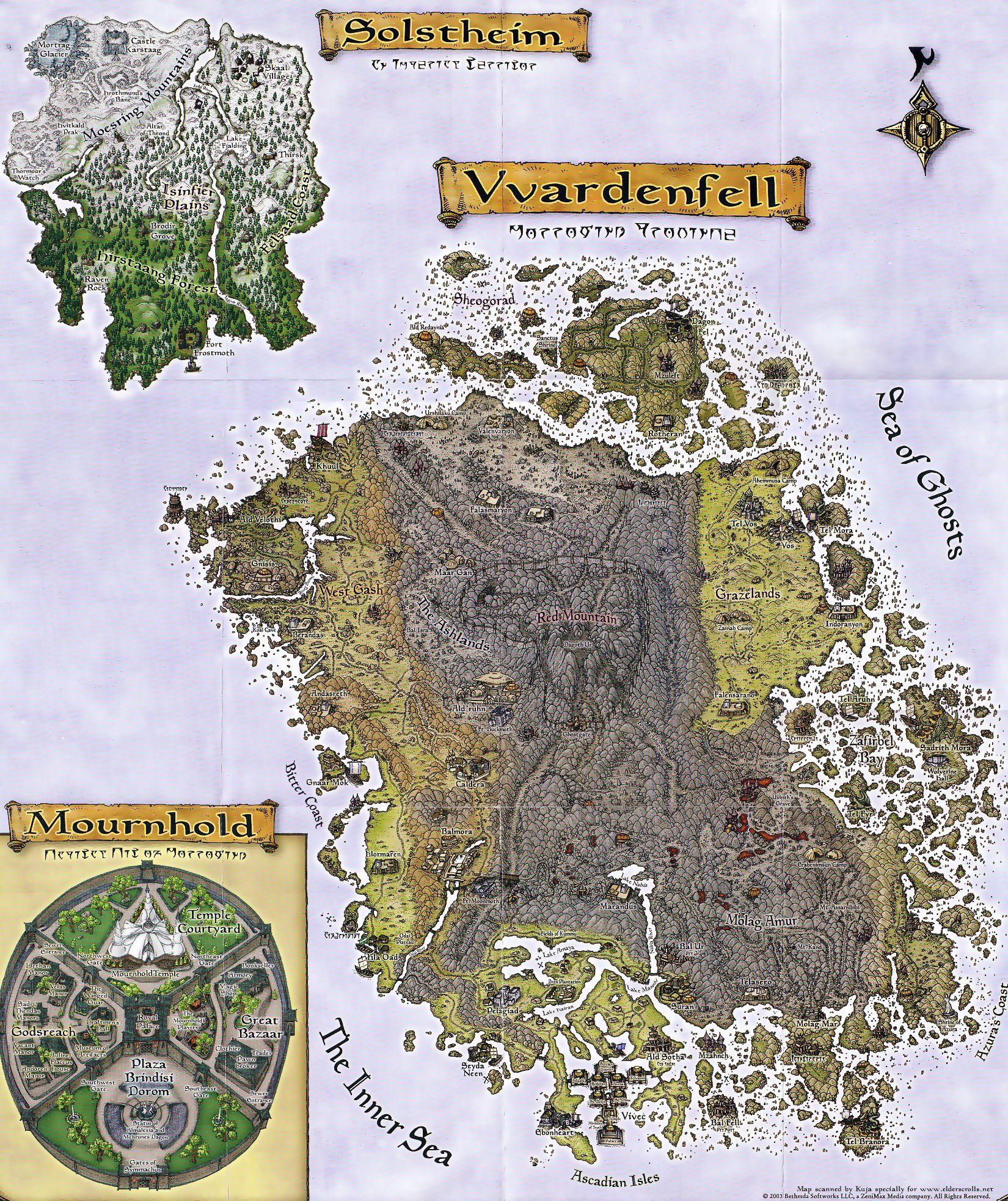 The Elder Scrolls III: Morrowind (PC) - Map Depository - The ...